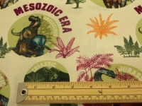 NHM dinosaur ages cotton print