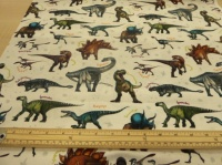 NHM dinosaur cotton print