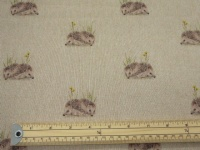 Hedgehog polycotton print
