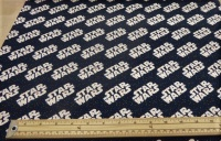 Star Wars logo cotton print